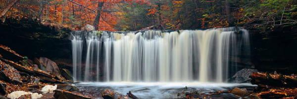 Photograph - Autumn Waterfalls by Songquan Deng