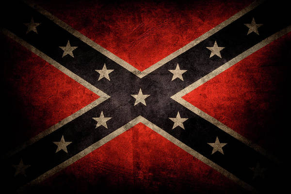 Wall Art - Photograph - Confederate Flag 7 by Les Cunliffe