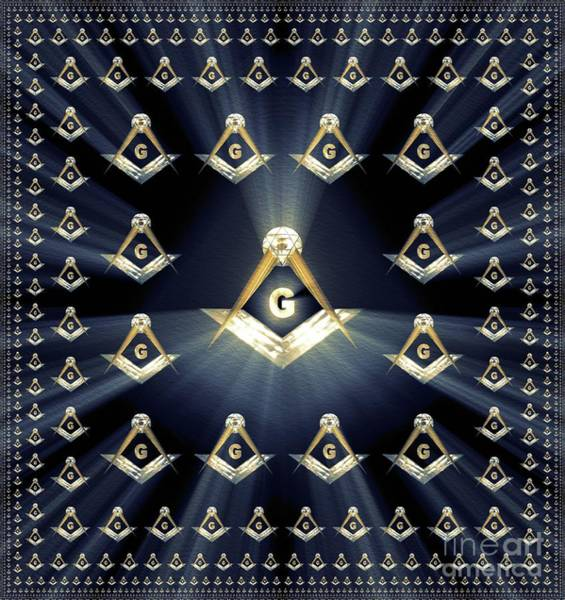 Apron Wall Art - Painting - Freemason, Masonic, Symbols by Pierre Blanchard