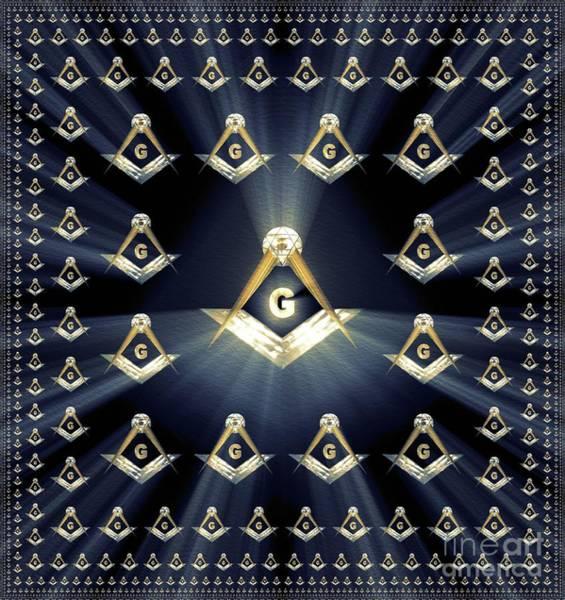 Wall Art - Painting - Freemason, Masonic, Symbols by Pierre Blanchard