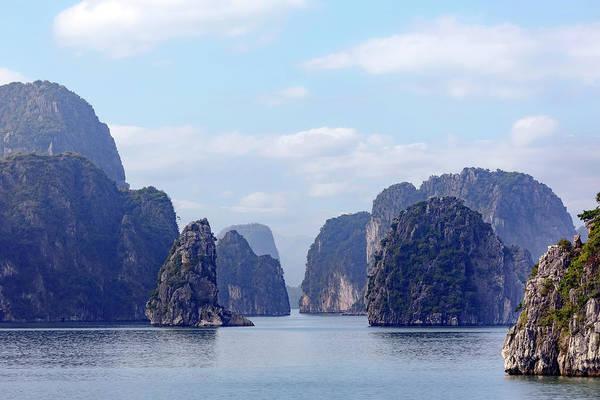 Dragon Boats Wall Art - Photograph - Halong Bay - Vietnam by Joana Kruse