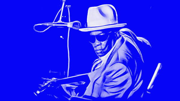 Delta Mixed Media - John Lee Hooker Collection by Marvin Blaine
