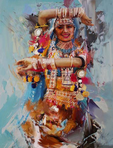Maryam Wall Art - Painting - 18 Pakistan Folk by Maryam Mughal