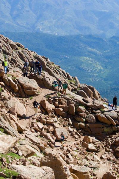 Photograph - Pikes Peak Marathon And Ascent by Steve Krull