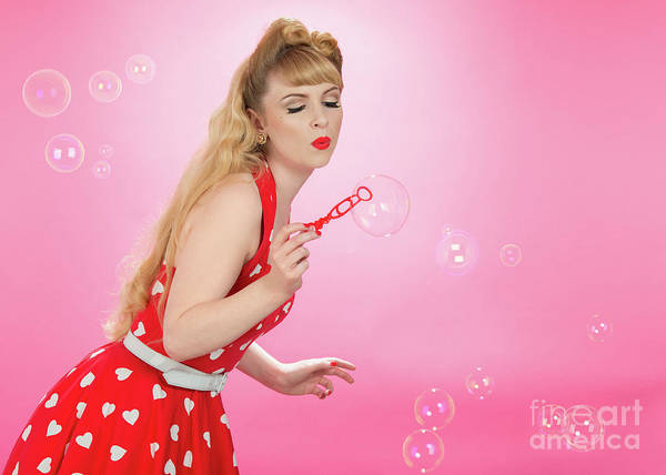 Bubble Up Photograph - Pin Up Girl by Amanda Elwell