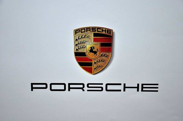 Drive Digital Art - Porsche Logo by Max Dedrick