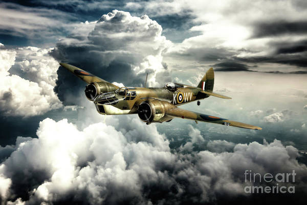Blenheim Digital Art - 18 Squadron Bristol Blenheim by J Biggadike