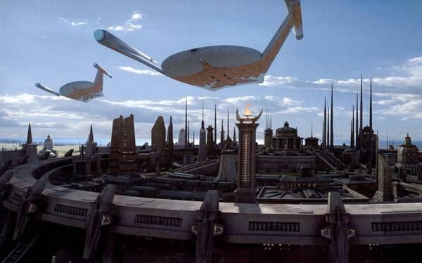 City Digital Art - Star Trek by Super Lovely