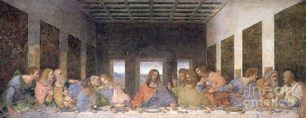 Wall Art - Painting - The Last Supper by Leonardo Da Vinci