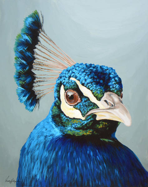Wall Art - Painting - Peacock by Lesley Alexander