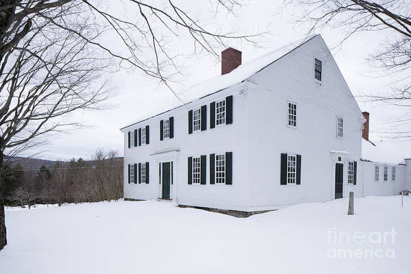 Wall Art - Photograph - 1800 White Colonial Home by Edward Fielding