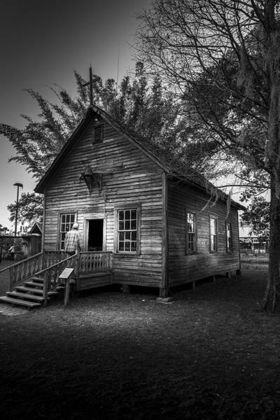 Time Frame Photograph - 1800's Florida Church by Marvin Spates