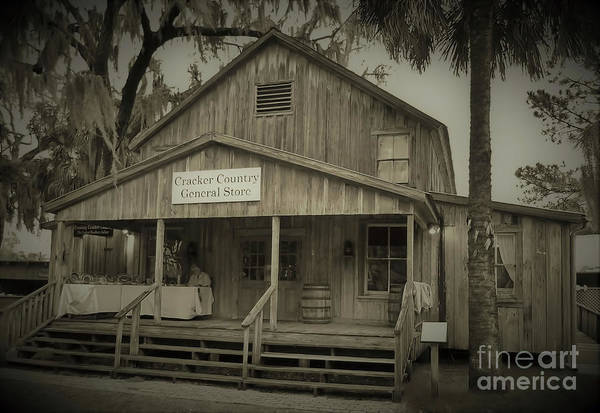 Photograph - 1800s Rainey General Store Sepia by D Hackett