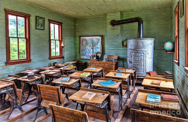 Photograph - 1800's Schoolhouse by Sharon Seaward