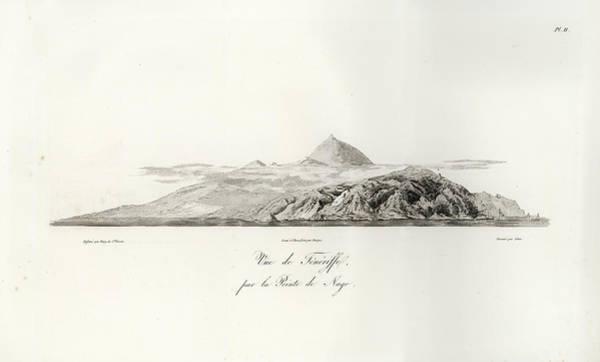Drawing - 1804 View Of Tenerife by J B Bory de Saint Vincent