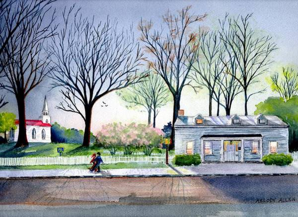 Wall Art - Painting - 1810 House by Melody Allen