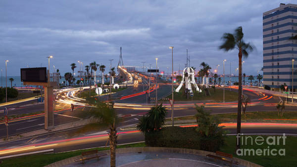 Photograph - 1812 Bridge Roundabout Traffic Lights Cadiz Spain by Pablo Avanzini