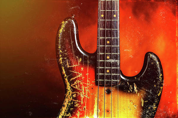 Photograph - 18.1834 011.1834c Jazz Bass 1969 Old 69 by M K Miller