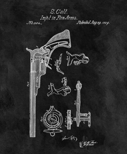 Drawing - 1839 Samuel Colt Firearm by Dan Sproul