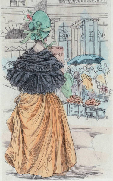 Drawing - 1840 Paris France Fashion Drawing by Movie Poster Prints