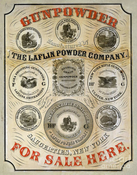 Wall Art - Photograph - 1850 Gunpowder Advertisement by Jon Neidert