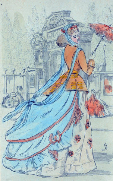 Wall Art - Drawing - 1868 Paris France Fashion Drawing by Movie Poster Prints