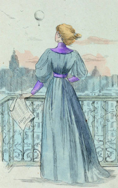Wall Art - Drawing - 1870 Paris France Fashion Drawing by Movie Poster Prints