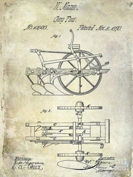 Plow Photograph - 1870 Plow Patent by Jon Neidert