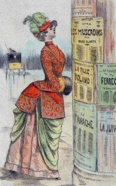 Wall Art - Drawing - 1875 Paris France Fashion Drawing by Movie Poster Prints