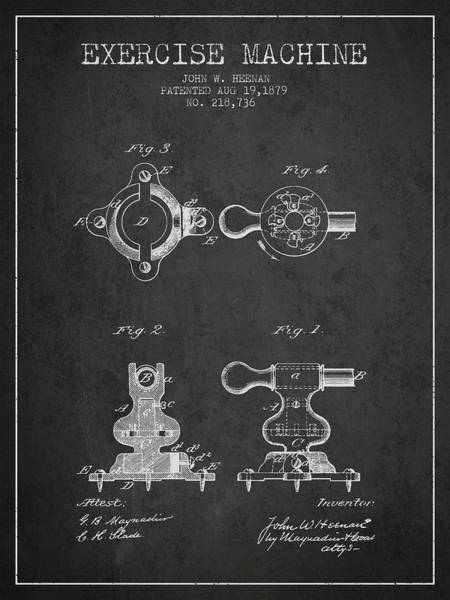 1879 Exercise Machine Patent Spbb08_cg Art Print