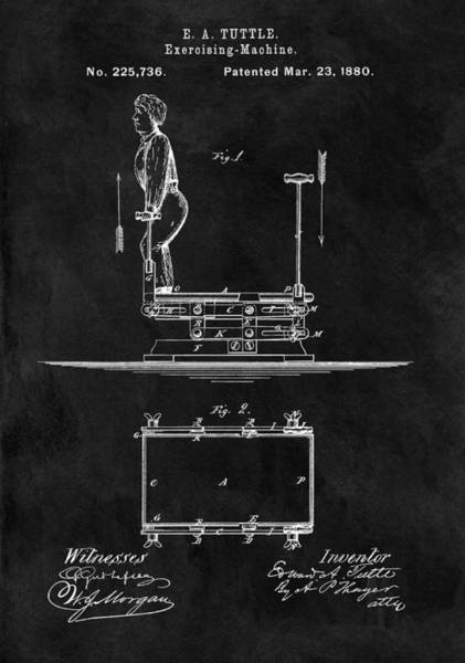 1880 Drawing - 1880 Exercise Apparatus Patent Illustration by Dan Sproul