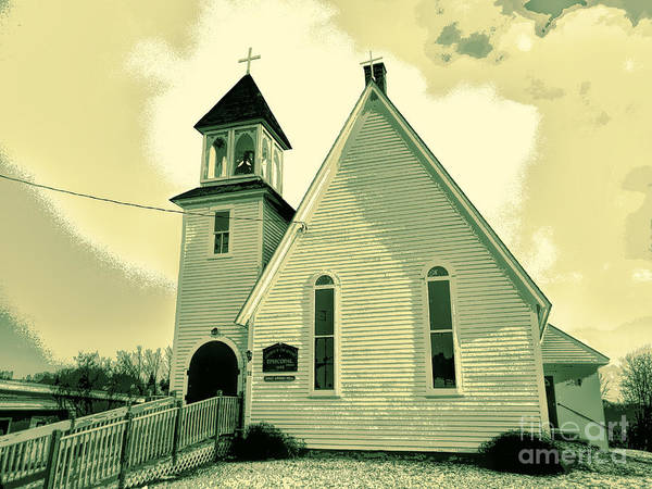 Aroostook Photograph - 1881 Church Of The Advent by William Tasker