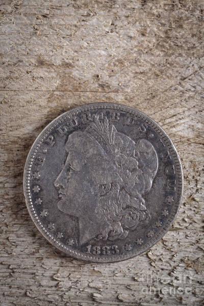 Wall Art - Photograph - 1883 Morgan Silver Dollar by Edward Fielding