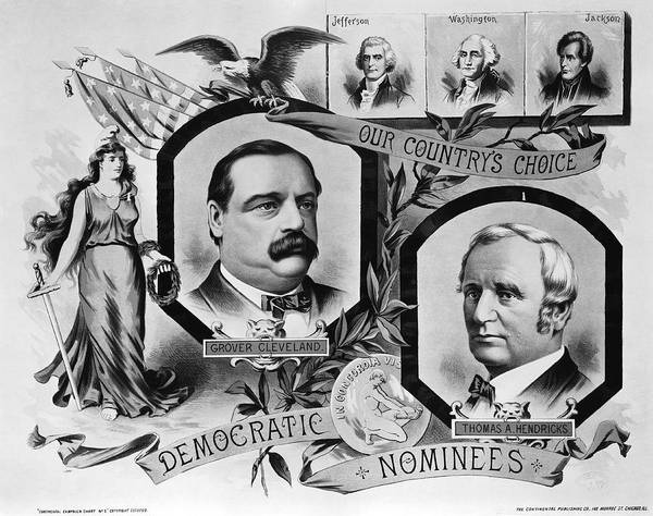 State Of Indiana Photograph - 1884 Campaign Banner by Underwood Archives