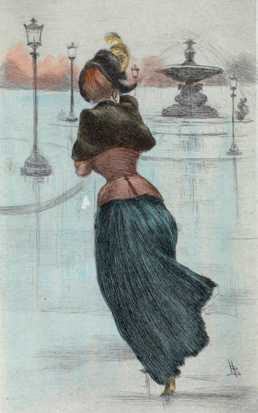Wall Art - Drawing - 1884 Paris France Fashion Drawing by Movie Poster Prints