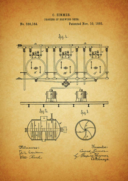 Mixed Media - 1885 Beer Brewing Method by Dan Sproul