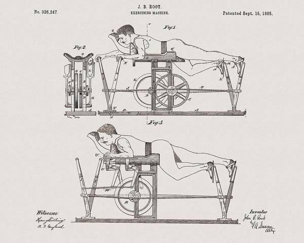Fitness Mixed Media - 1885 Exercise Apparatus Illustration by Dan Sproul