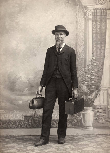 Wall Art - Photograph - 1885 Portrait Of A Doctor by Underwood Archives
