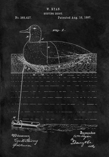 Drawing - 1887 Duck Decoy Patent by Dan Sproul