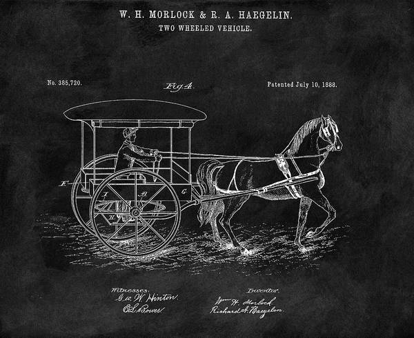 Drawing - 1888 Horse Drawn Carriage by Dan Sproul