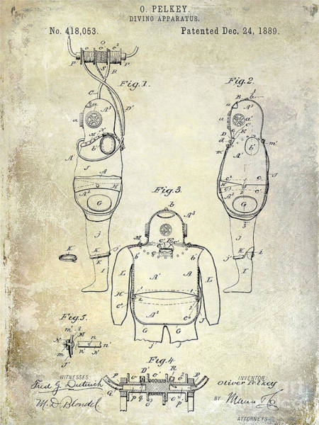 Diving Suit Photograph - 1889 Diving Apparatus  by Jon Neidert