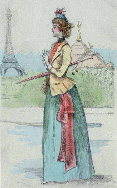 Wall Art - Drawing - 1889 Paris France Fashion Drawing by Movie Poster Prints