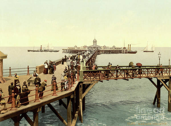 Fin-de-siecle Photograph - 1890 Victorian Jetty In Margate Kent by Aapshop