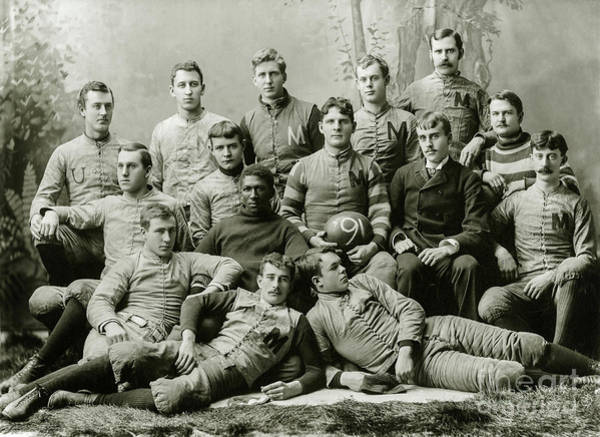 Ohio State Football Photograph - 1891 Michigan Wolverines Football Team by Jon Neidert