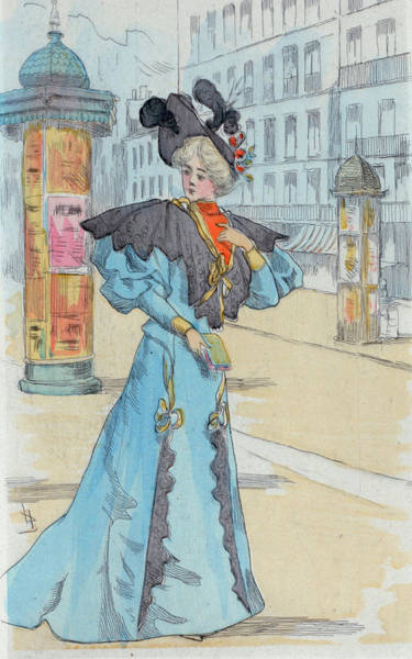 Wall Art - Drawing - 1892 Paris France Fashion Drawing by Movie Poster Prints