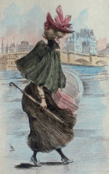 Wall Art - Drawing - 1893 Paris France Fashion Drawing by Movie Poster Prints