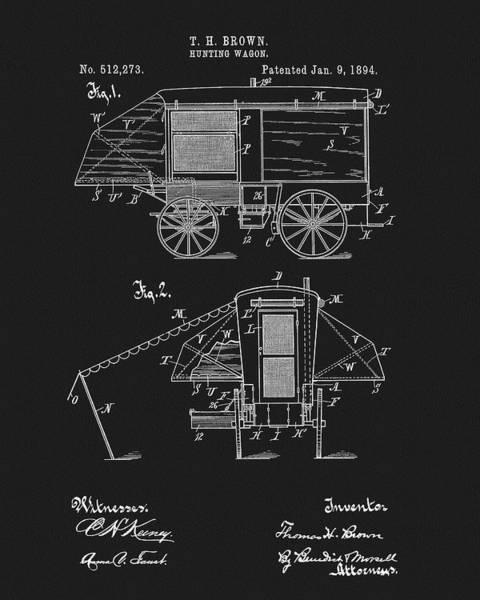 Wall Art - Mixed Media - 1894 Hunting Wagon Patent by Dan Sproul