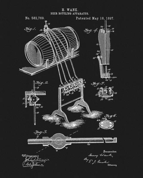 Mixed Media - 1897 Beer Bottling Apparatus by Dan Sproul