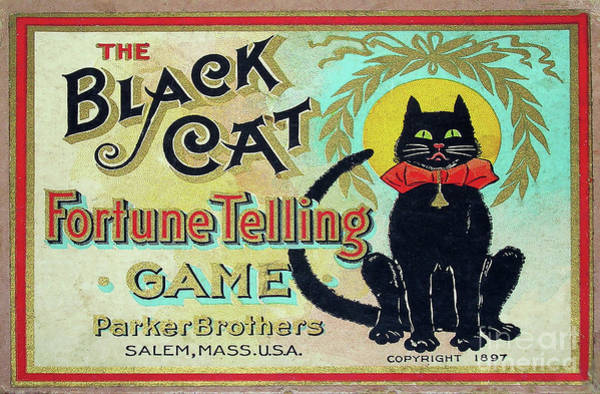 Black Cats Photograph - 1897 Black Cat Fortune Telling Game by Jon Neidert