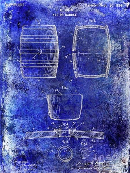 Brewing Photograph - 1898 Beer Keg Patent by Jon Neidert